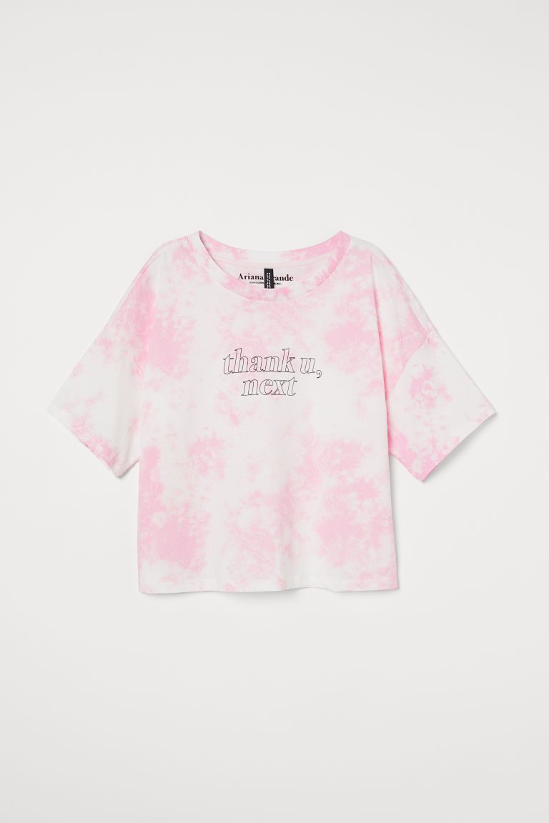 T-shirt with Printed Text - Pink/Ariana Grande - Ladies | H&M CA