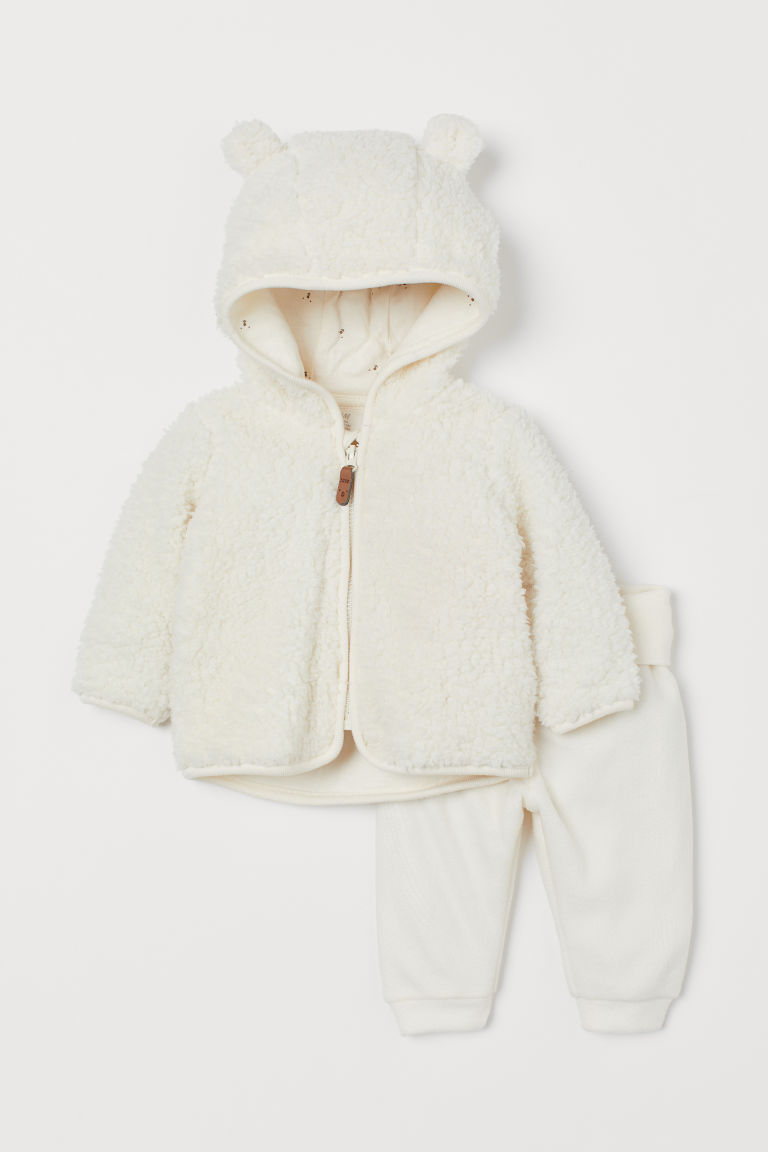 Jacket and Pants - Natural white - Kids | H&M US