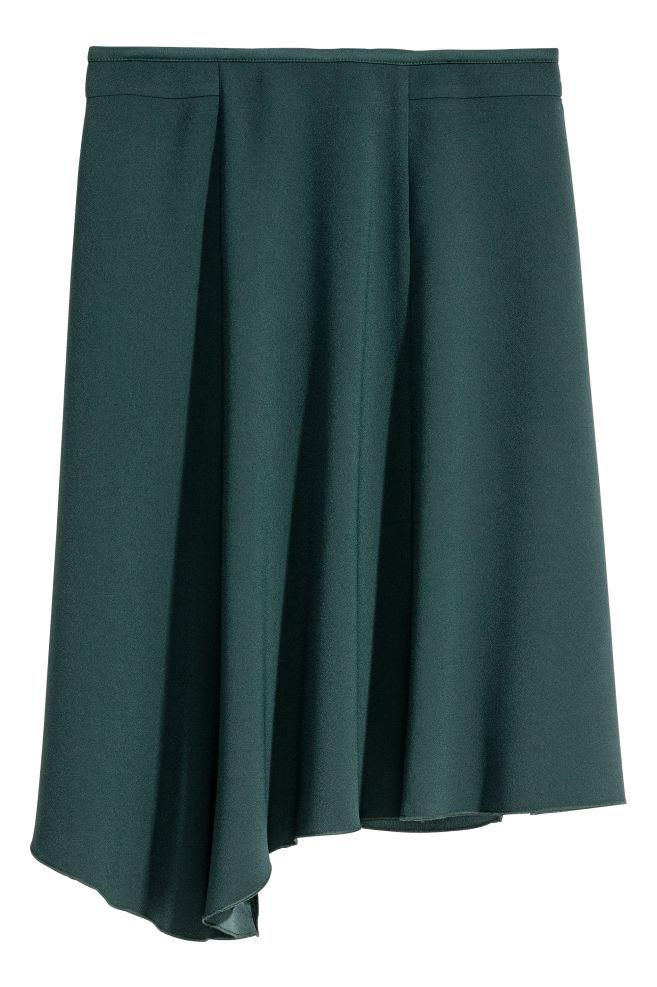73a7d9742608 Asymetrická sukňa - tmavá petrolejová - ŽENY