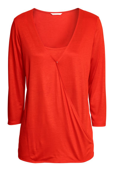 MAMA Nursing top - Bright red -  | H&M