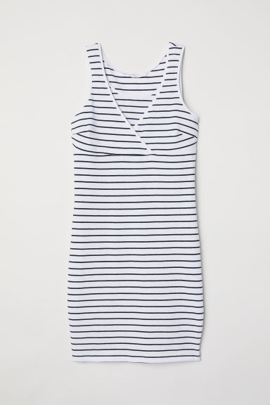 MAMA Nursing dress - White/Striped -  | H&M