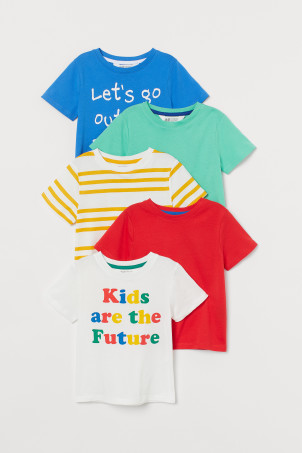 5-pack cotton T-shirts