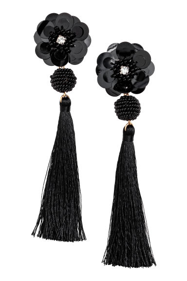 Long earrings - Black - Ladies | H&M GB