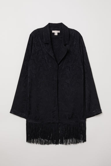 Jacket with fringing - Black - Ladies | H&M
