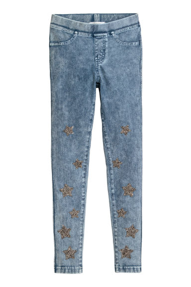 Treggings - Blue/Stars - Kids | H&M