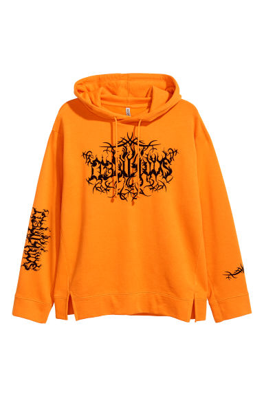 Oversized hooded top - Orange -  | H&M