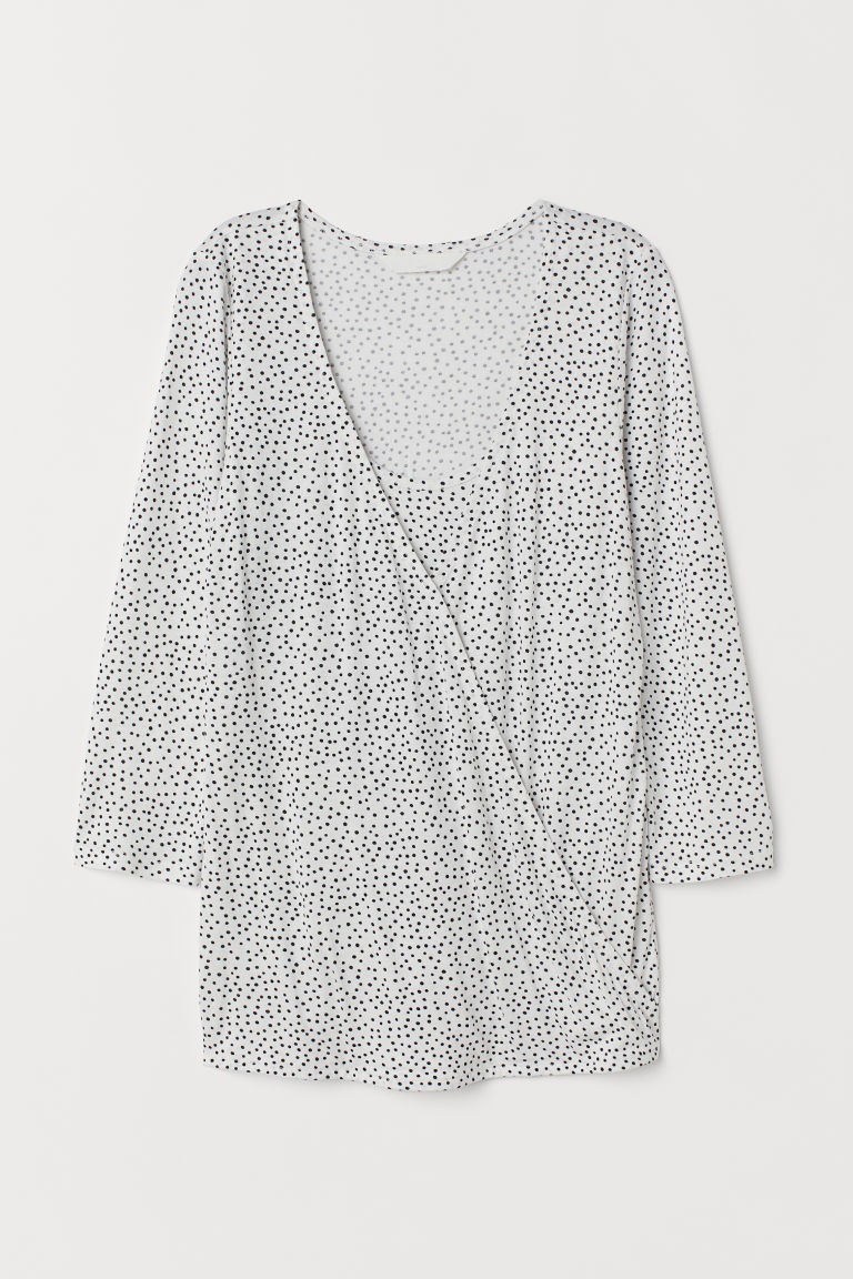 MAMA Top da allattamento - Bianco/pois - DONNA | H&M IT