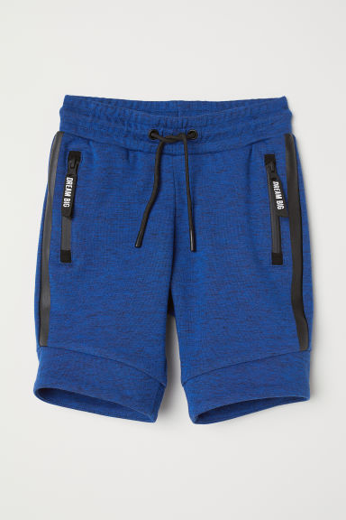 Sweatshirt shorts - Blue marl - Kids | H&M