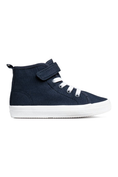 Cotton canvas hi-tops - Dark blue -  | H&M