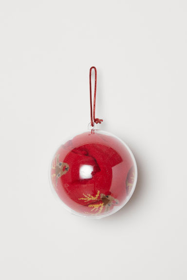 Socks in a bauble - Red/Reindeer - Ladies | H&M