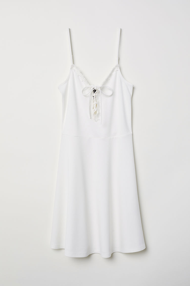 Sleeveless dress - White - Ladies | H&M CN