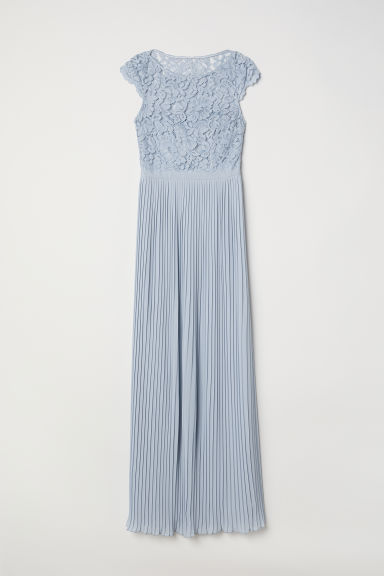 Pleated long dress - Light blue - Ladies | H&M IN