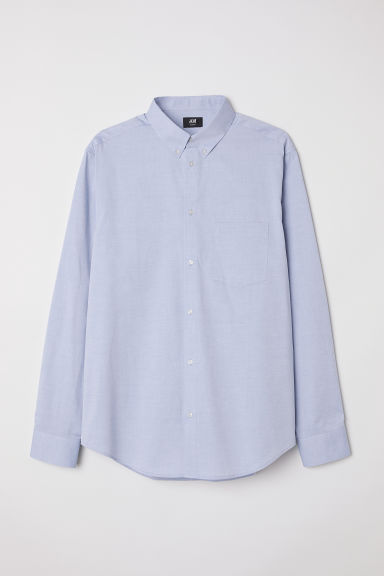 Cotton shirt Slim fit - Light blue - Men | H&M