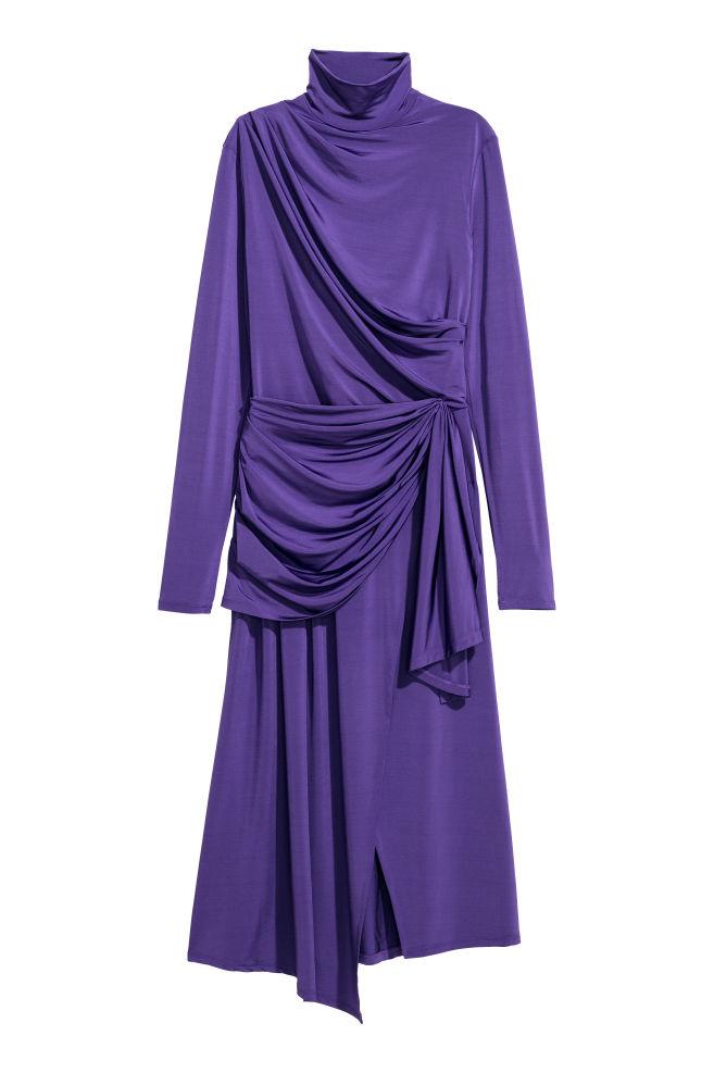 fbac07a3b9f2d1 Gedrapeerde jurk - Paars - DAMES