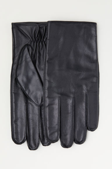 Leather smartphone gloves - Black - Men | H&M CN