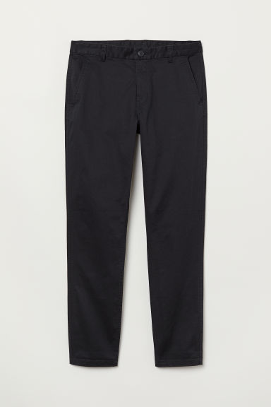 Chinos Tapered Fit - Black -  | H&M