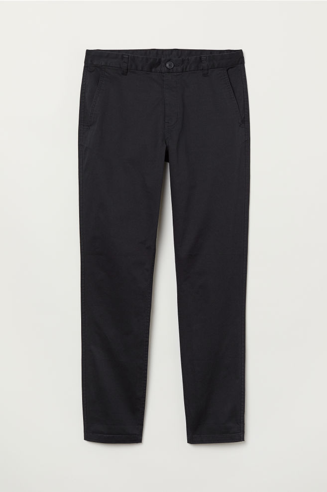 Chinos Tapered Fit - Black - Men  a6f9b1843