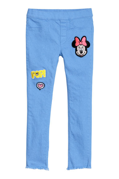 Treggings with appliqués - Light blue/Minnie Mouse -  | H&M CN