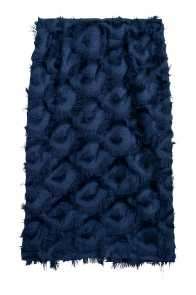 Skirt with fringing - Dark blue -  | H&M