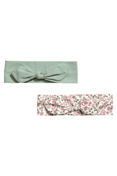 2-pack jersey hairbands - Dusky green/Floral -  | H&M CN