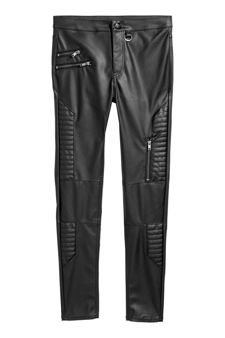 Biker trousers - Black - Ladies | H&M GB