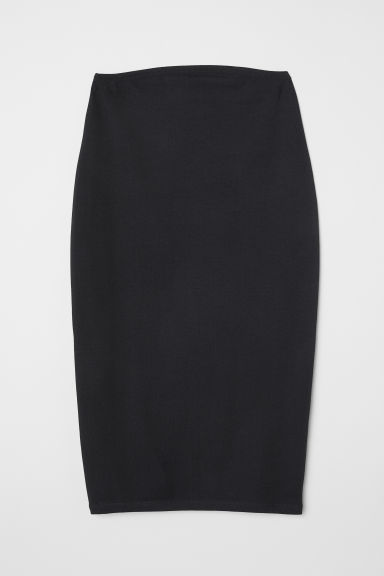 MAMA Jersey pencil skirt - Black - Ladies | H&M IE