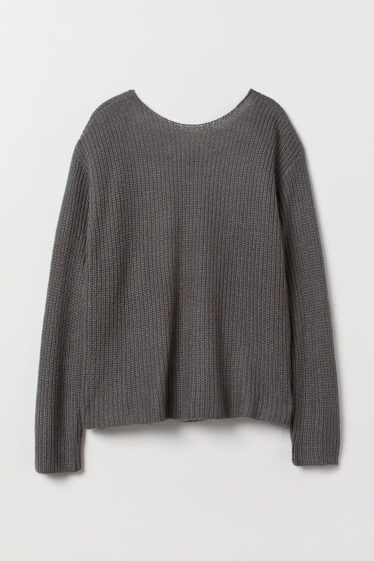 Open-backed jumper - Dark grey -  | H&M CN