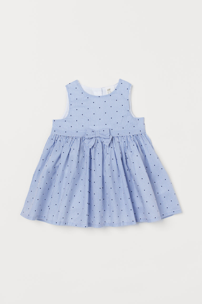 Bow-detail Dress - Blue/dotted - Kids | H&M US