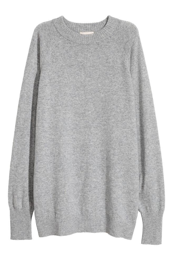 Kašmírový svetr - Šedý melír - ŽENY  78fbb888f2