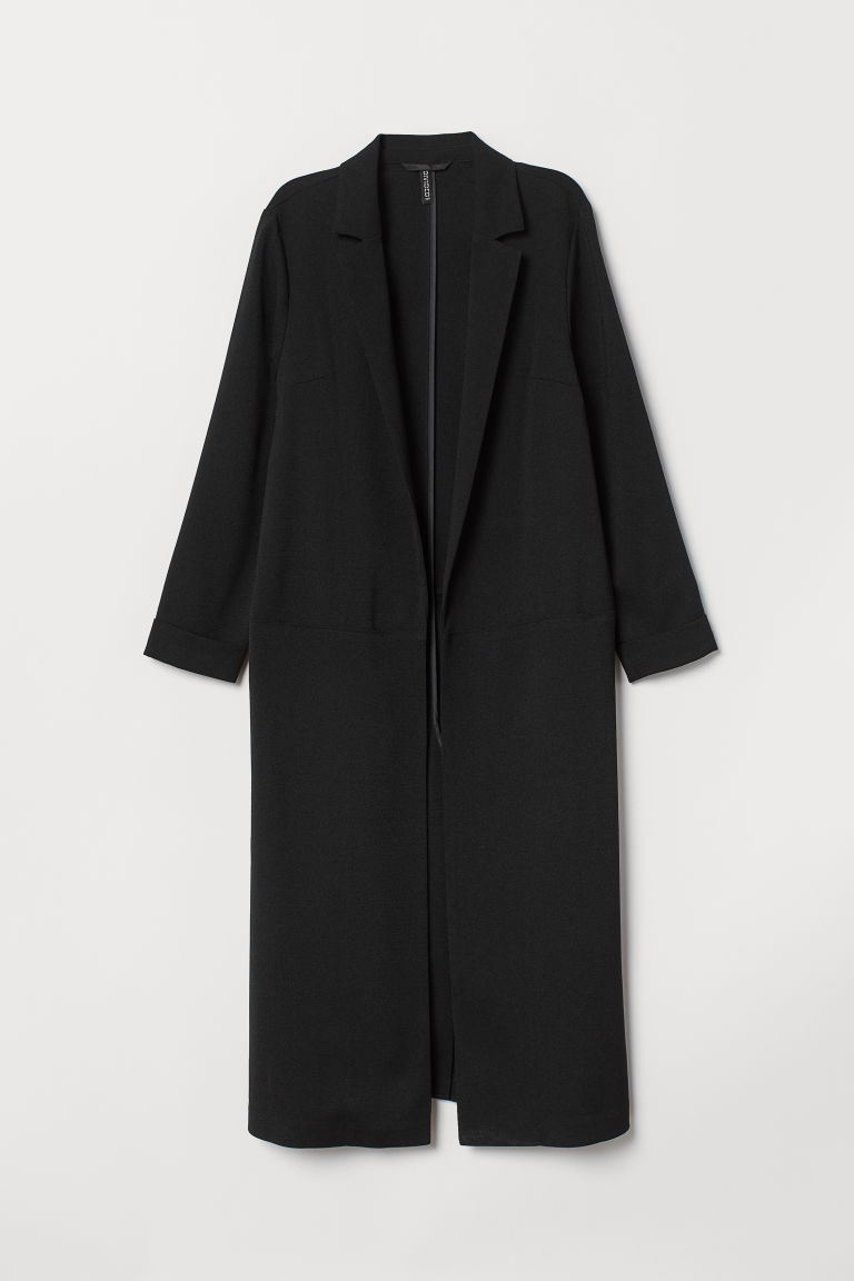 Knee-length coat - Black -  | H&M