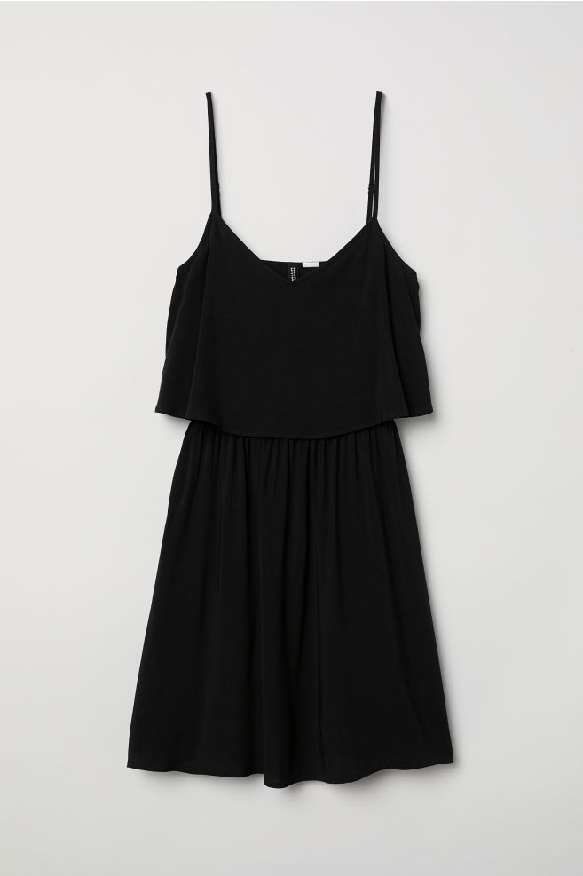 809510a247a00 Short dress - Black - | H&M ...
