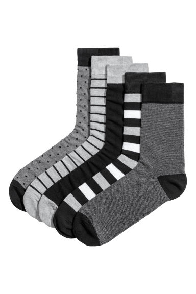5-pack socks - Dark grey -  | H&M