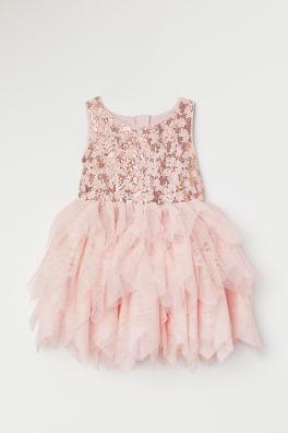 d5922107c593e6 Tulen jurk met pailletten