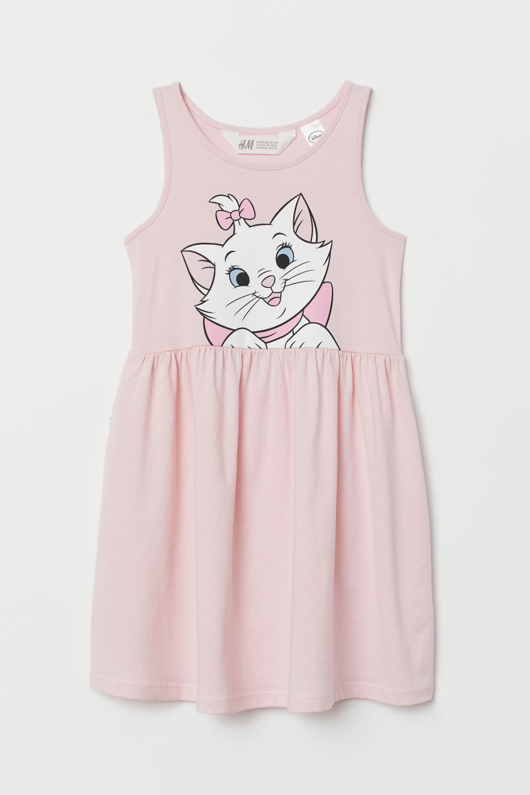 Jersey dress - Light pink/Aristocats - Kids | H&M CN
