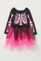Black/Cerise skeleton
