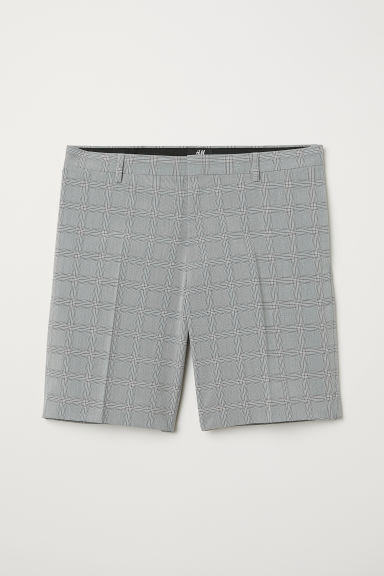 City shorts Slim fit - Grey/Checked - Men | H&M