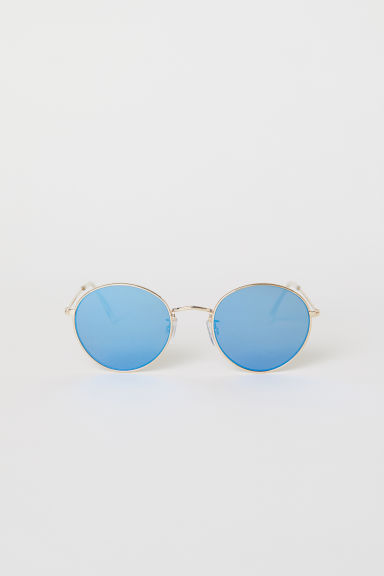 Sunglasses - Gold-colored/blue - Ladies | H&M US