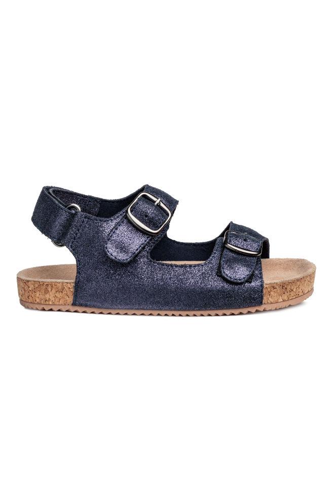 b663ff001e83 Suede sandals - Dark blue Glitter - Kids