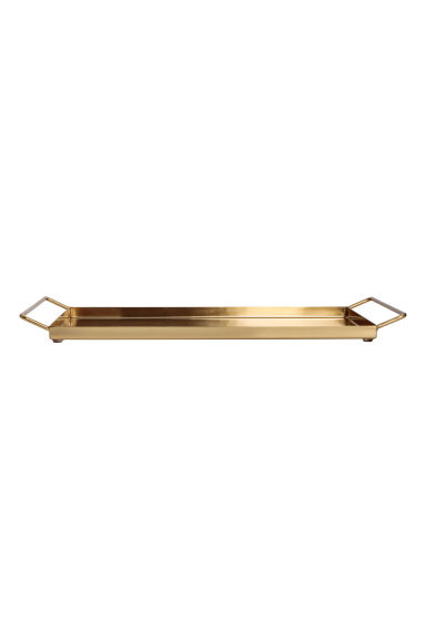Metal tray with handles - Gold-coloured - Home All | H&M GB