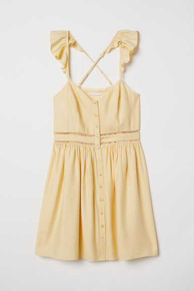 Short dress - Light yellow - Ladies | H&M