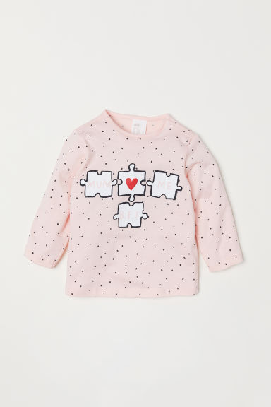 Printed top - Light pink - Kids | H&M