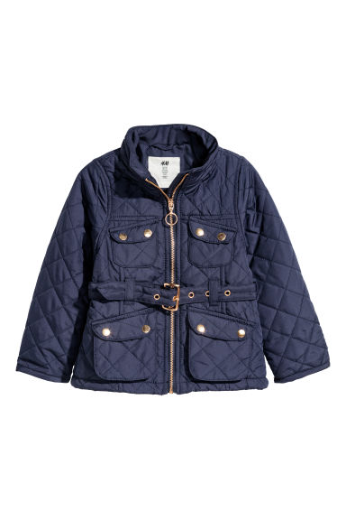 Quilted jacket - Dark blue -  | H&M