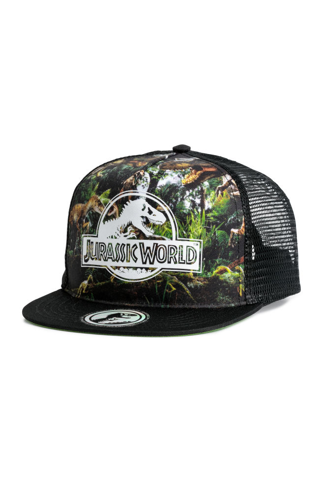 56480ca9c30d3c Cap with a motif - Black/Jurassic World - Kids | H&M ...