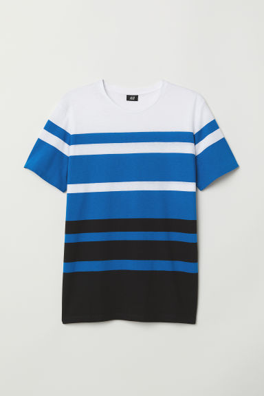 Striped T-shirt - Blue/Striped - Men | H&M