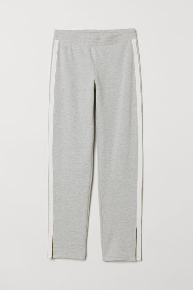 Joggers with side stripes - Light grey marl - Ladies | H&M