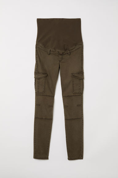 MAMA Cargo trousers - Dark khaki green -  | H&M