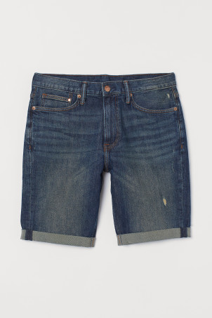Shorts de denim Slim Fit