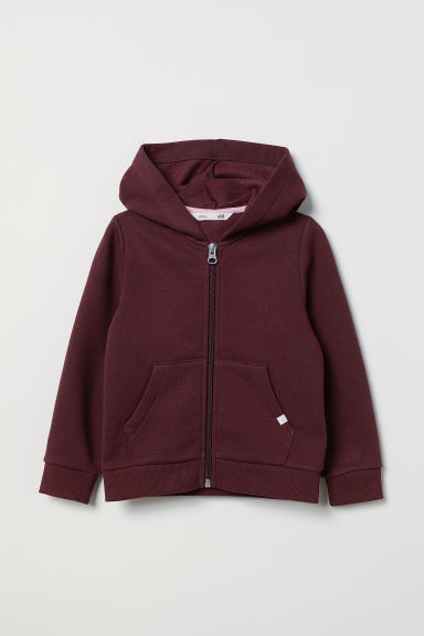 Hooded jacket - Dark red - Kids | H&M CN