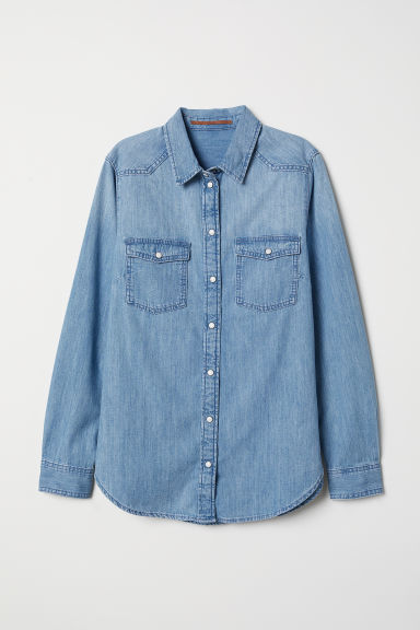Denim shirt - Light denim blue - Ladies | H&M