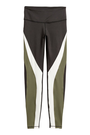 Sports tights Shaping Waist - Dark green - Ladies | H&M CN